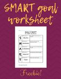 SMART Goal Planner Worksheet