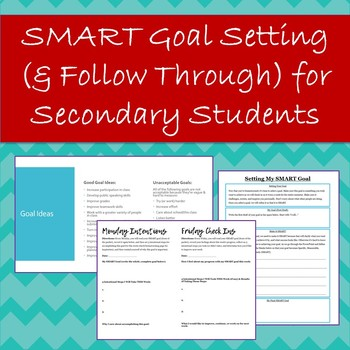 SMART Goal Setting, Check Ins, & Reflections for Secondary Students
