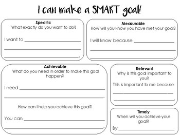 SMART Goal-Setting Graphic Organizer