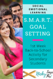 SMART Goal Setting - Interactive Notebook Inserts
