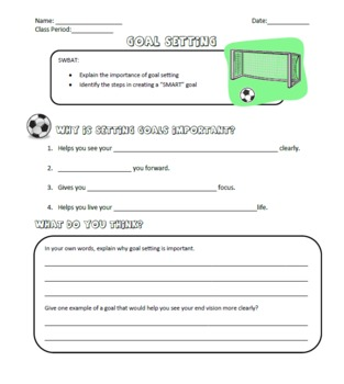 Worksheets Smart Goal Worksheet For Students collection of smart goal setting worksheet for students sharebrowse lesson by sarah mclean teachers pay teachers