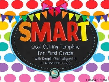 SMART Goal Setting Template for First Grade