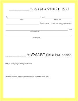 SMART Goal Setting in Upper Elementary