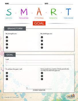 SMART Goals Worksheet, Smart Goal Worksheet, Setting Goals, SMART Goals