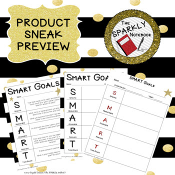 SMART Goals Editable Template - Black & Gold