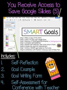 SMART Goals: Google Slides & Printable
