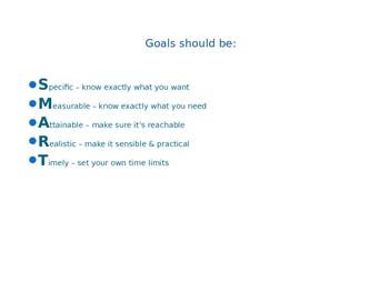 Investigating Careers: SMART Goals - PowerPoint Presentation