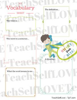 SMART Goals - Vocabulary