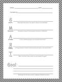 SMART Goals Worksheet for School Counselors - Black and White