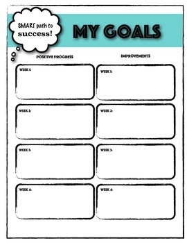 SMART Goals and How-To's Student Goal Tracker