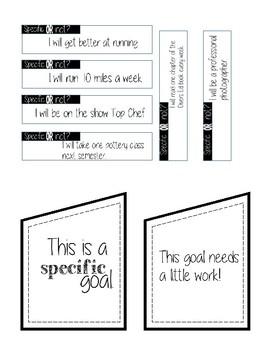 SMART Goals FREEBIE   creating specific  SMART goals