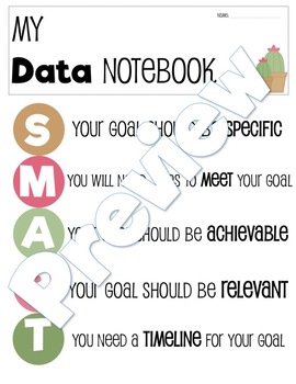 SMART Goals with Data Tracking Notebook
