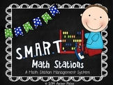 SMART Math Stations- Blue with Flags Theme