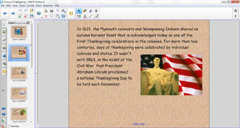 SMART Notebook History of Thanksgiving