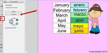 SMART Notebook Interactive File- Los Meses del Año