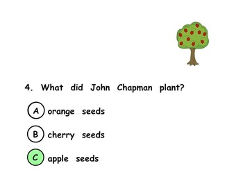 Johnny Appleseed Multiple Choice Quiz SMART Notebook