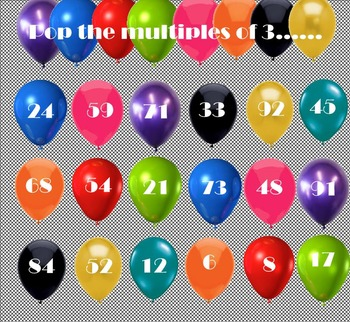 SMARTBoard Math - Multiples Bubble Pop