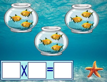 SMARTBoard Math - Ocean Multiplication Arrays