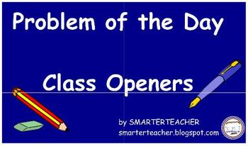 SMART Notebook - Problem of the Day Class Openers