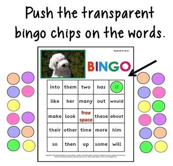 Sight Words Bingo SMART Notebook