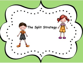 SMART Notebook Slides Lesson Teaching The Split Strategy