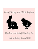 SMART Notebook: Spring Bunny and Chick Rhythms (Ta and Ti-Ti)