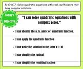 SMART Notes: Quadratic Formula with Complex solutions