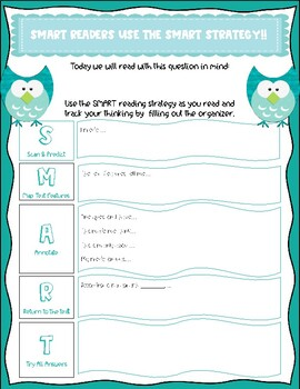Graphic Organizer for SMART Reading Informational Text Strategy