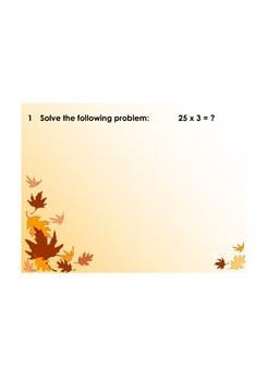 SMART Response - 2-digit x 1-digit Multiplication Quiz