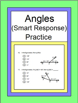 Angles - SMART Response for Practice Problems (1 - 35) ZIP 20 Exit Tickets