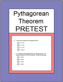 Pythagorean Theorem (SAME Product as PRETEST) SMART Response