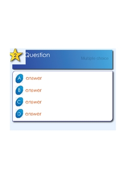 SMART Response Template 20 questions Multiple Choice