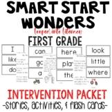 SMART START WONDERS INTERVENTION READING NO PREP  FLASH CARDS FIRST GRADE