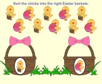 SMART Board Sorting for Easter