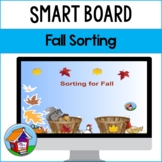Sorting for Fall Smart Board Activity