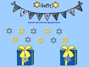 SMART Board Sorting for Hanukkah