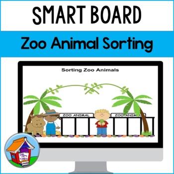 SMART Board Sorting of Zoo Animals