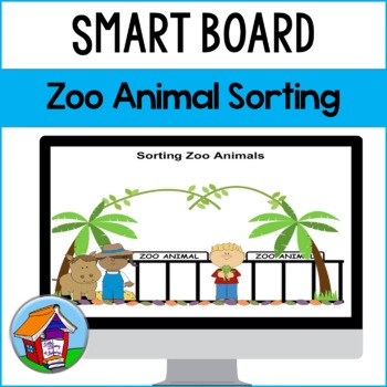 SMART Board Sorting of Zoo Animals