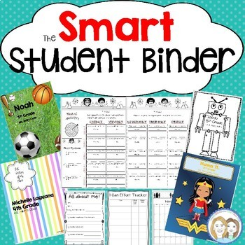 SMART Student Binder: Daily Planner, Classroom Forms, Printable Covers, Calendar