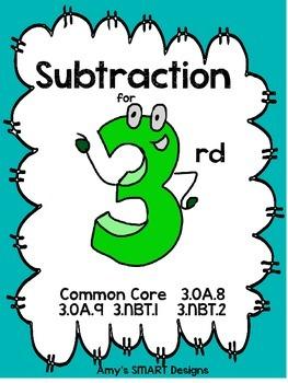 Subtraction for 3rd: Grade 3 Common Core Unit