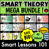 Music Lessons: THEORY MEGA BUNDLE with Videos Worksheets and Assessments