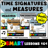 MEASURES and TIME SIGNATURES Theory Bundle with Videos Worksheets and Quizzes