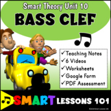 Music Theory: BASS CLEF Music Theory Unit Videos Music Worksheets and Assessment