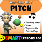 PITCH Music Theory Unit 2 with Video and Worksheet