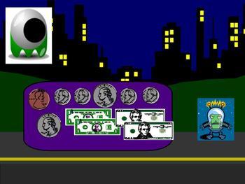 SMART board: Alien Vacation: Math: Intermediate Money: Smartboard