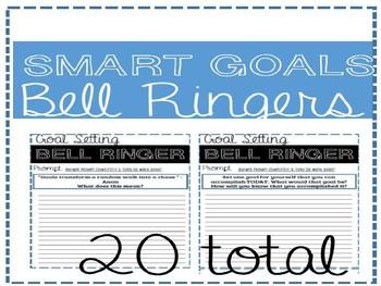 SMART goal Entry / Exit   Task Cards   Bell Ringers