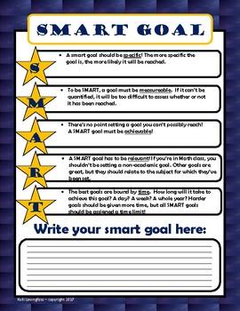 SMART goals form