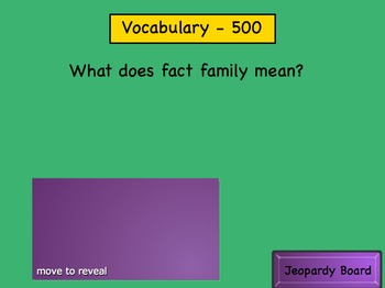 SMART notebook Fact Families Jeopardy