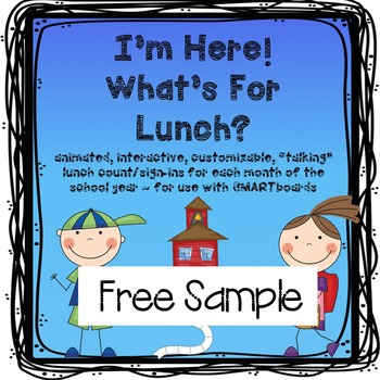 FREE Lunch Count and Attendance for SMARTboard