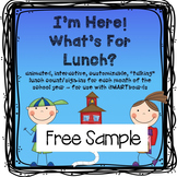 FREE Lunch Count and Attendance for SMARTboard (fully anim